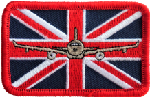 No. 10 Squadron RAF Airbus Voyager & Union Jack Embroidered Patch